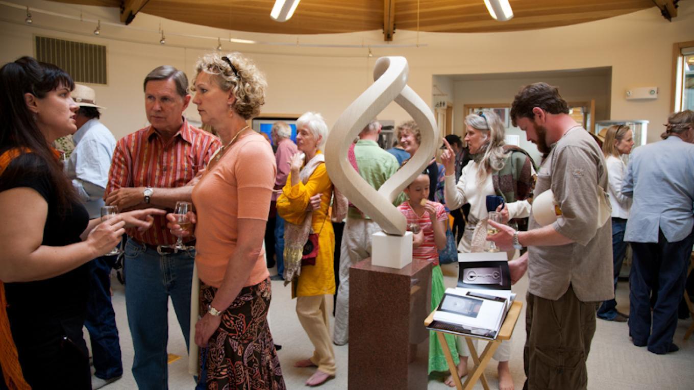 Art exhibition reception in SII's art gallery. – Staff photographer