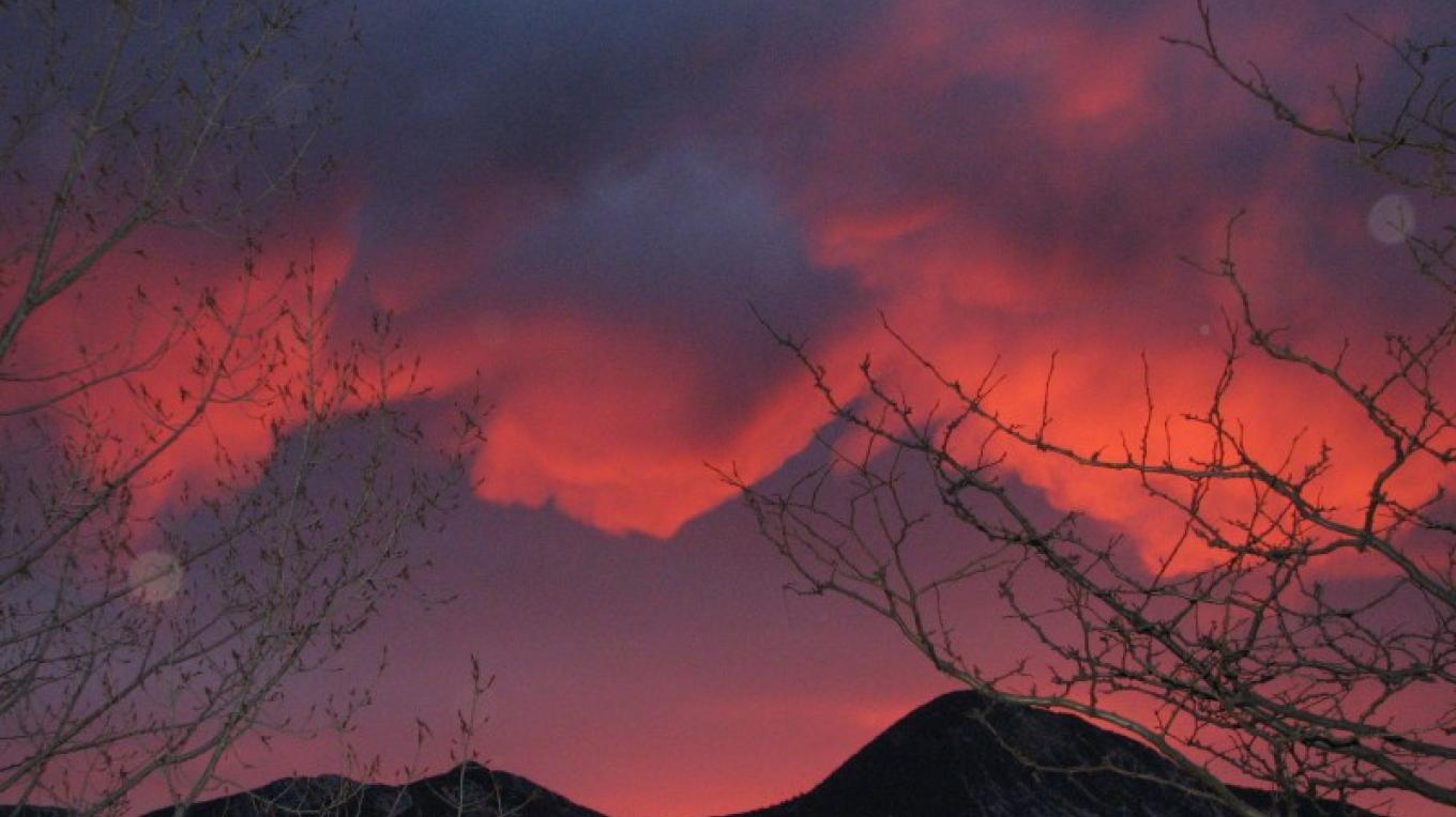 One of our amazing sunsets over the Sleeping Ute mountain! – Rebecca Brunk
