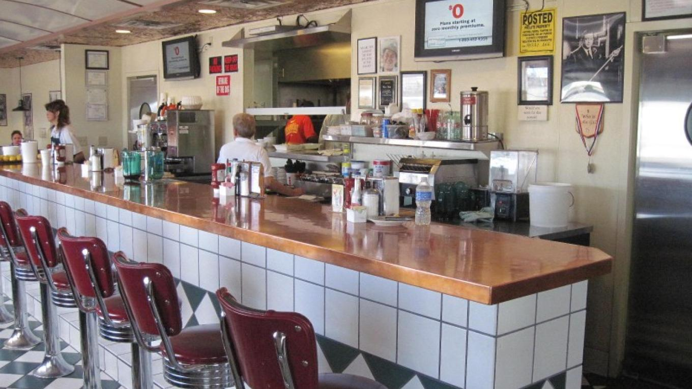The WOW Diner offers a classic lunch counter as well as comfy booths. – SO