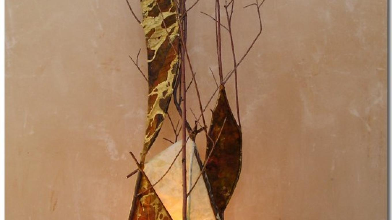 """Butterly"" willow lamp – Clodie Francois"