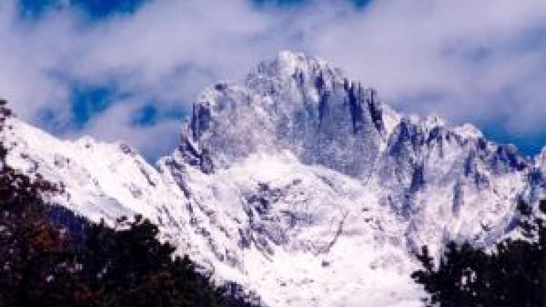 Crestone Peak in winter