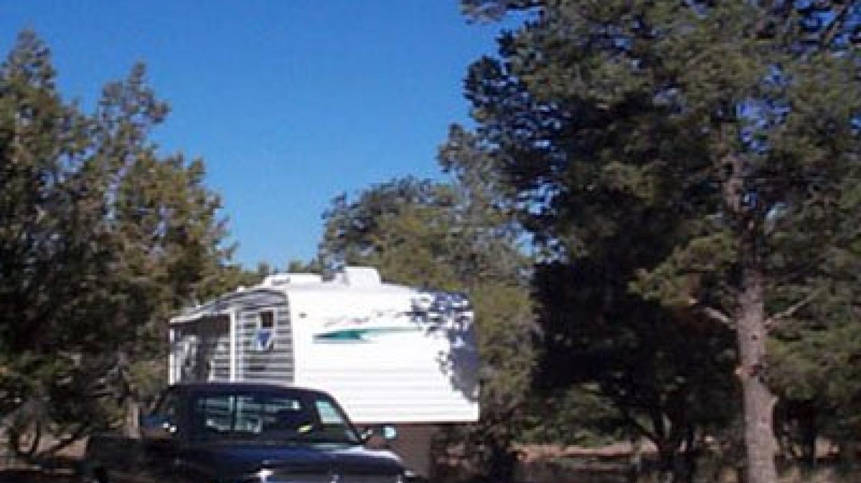 An RV campsite