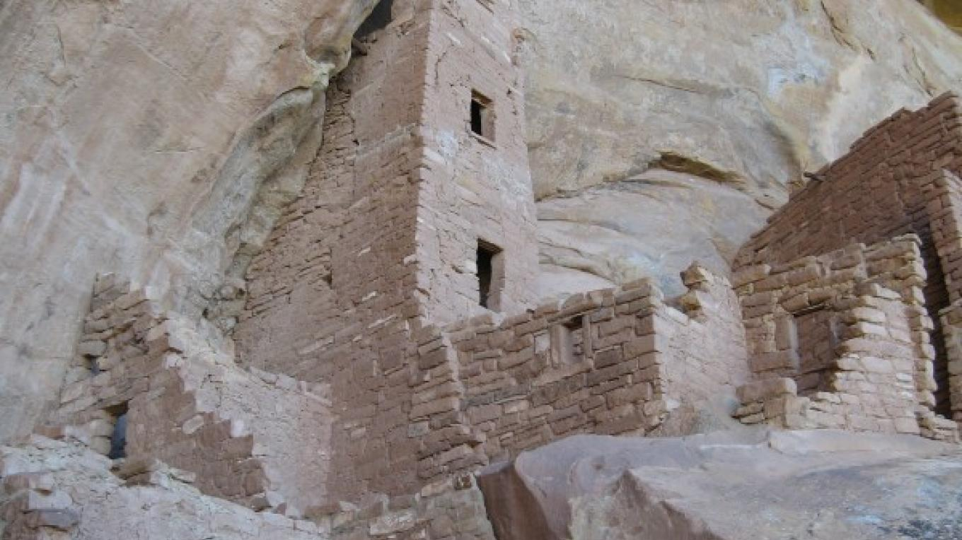 The tower that is the namesake of Square Tower House at Mesa Verde National Park. A two-hour hike to this site is part of the 2011 Mesa Verde Institute slate of hikes available to park visitors. – Laurel Rematore