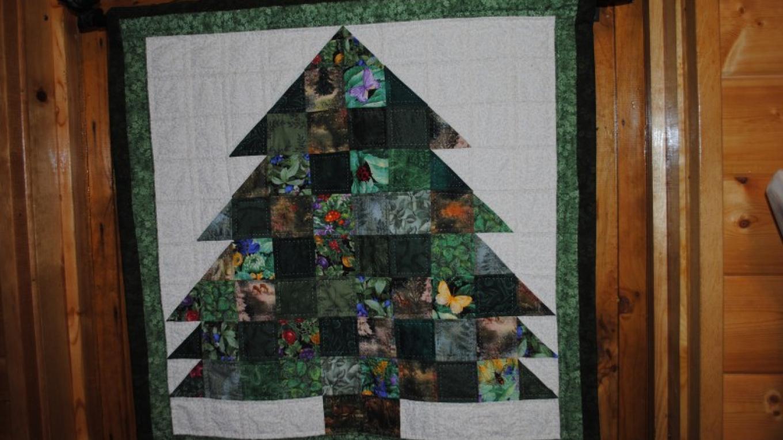 Hand-sewn pinetree wall hanging – Jake LaFore