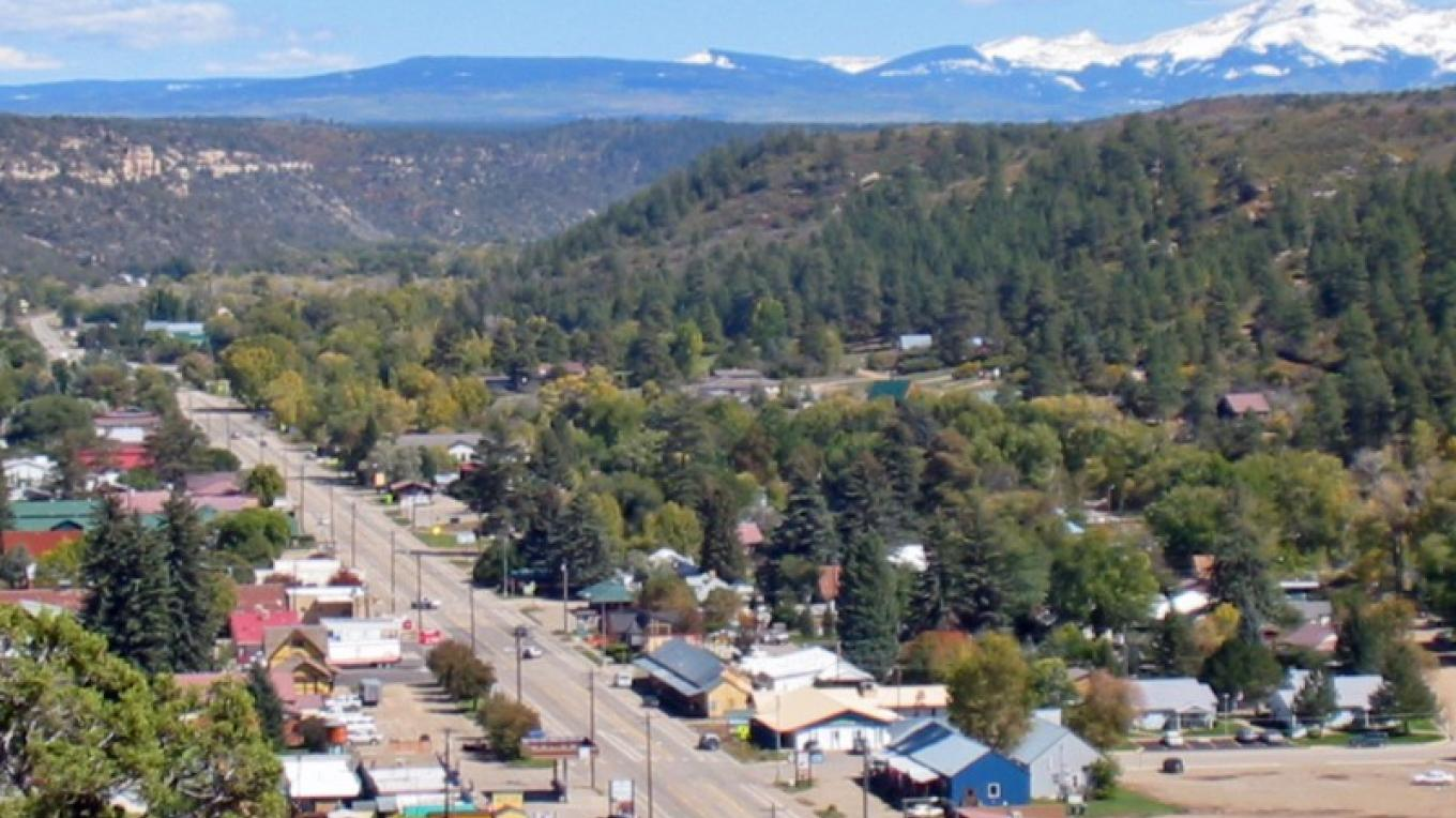 Town of Dolores - La Plata Mountians in the Distance – Pete Singleton