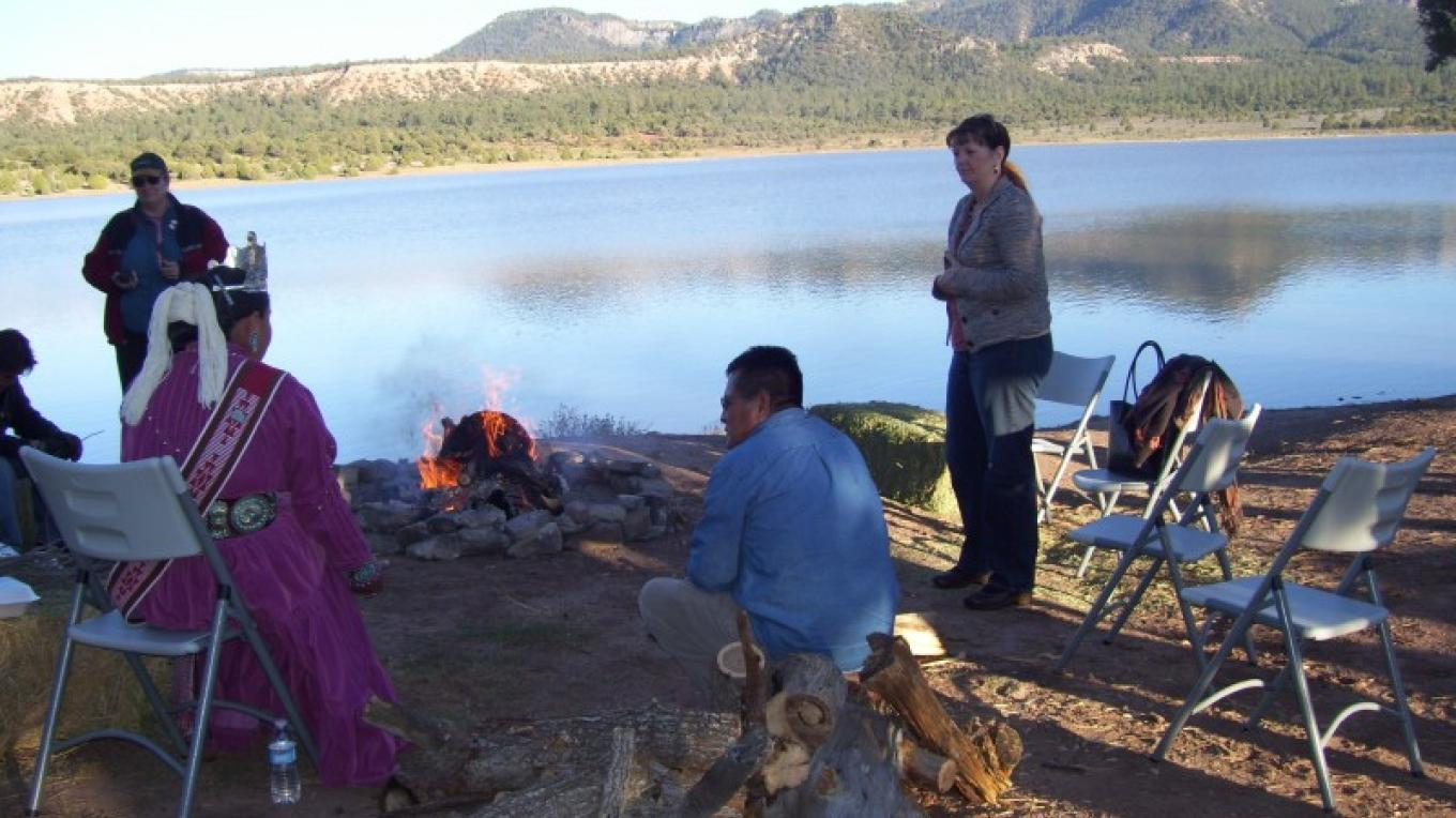 Navajo DOT hosting the IRR/PCC banquet by Wheatfield Lake – Valcita Thompson