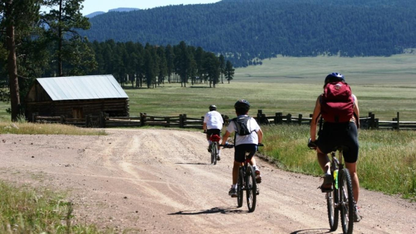 Riders in the old ranch headquarters area. – Rourke McDermott