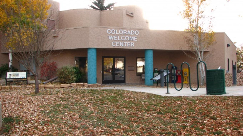 View of entrance to Colorado Welcome Center. – Courtesy of Mesa Verde Museum Association