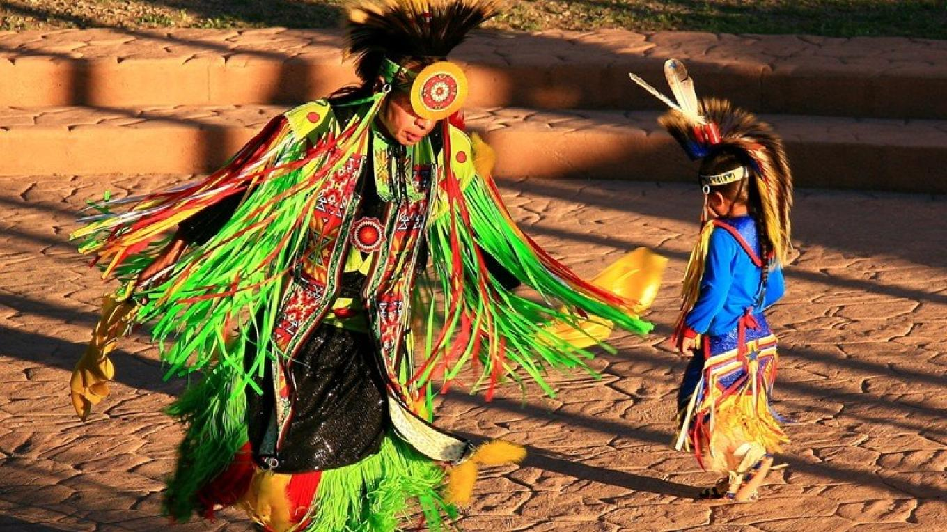 Ute Dancers perform at the Cortez Cultural Center during the Indian Arts and Culture Festival – Cortez Cultural Center