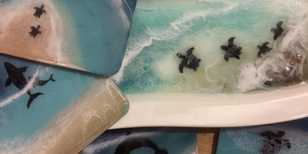 Soba Kaluthota - Epoxy resin functional art work