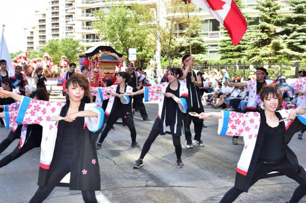 YOSOCAN dancers in Calgary Stampede parade.