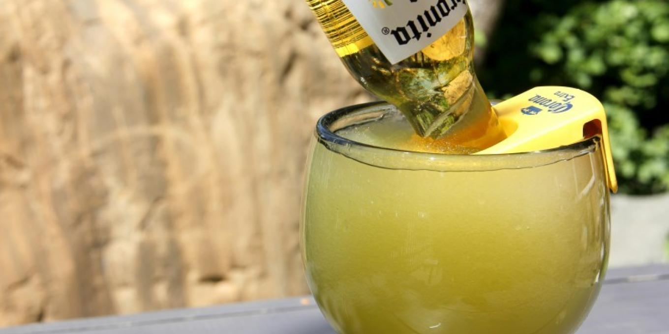 Enjoy an ice cold Mexican Bulldog on our shaded patio!
