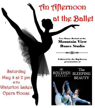 An Afternoon at the Ballet, Saturday May 4 at 2 pm