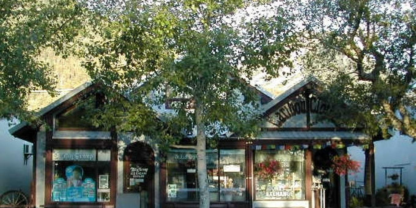 Caribou Clothes storefront on main street