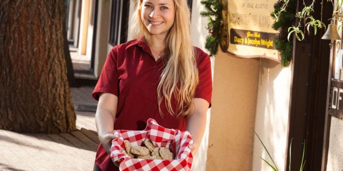 Our Crandell Cookies are always fresh baked for you at check in!