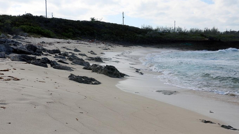 View of the waves crashing onto the shoreline – eleuthera bahamas