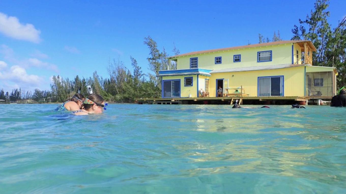 Swimming and snorkelling right off the deck