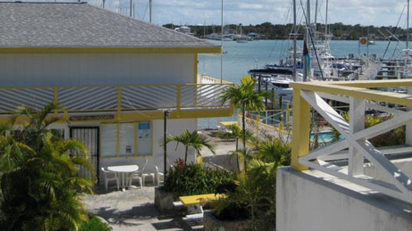 Jib Room Restaurant, located on the Tourist Strip in Marsh Harbour – Photo by Destination Abaco