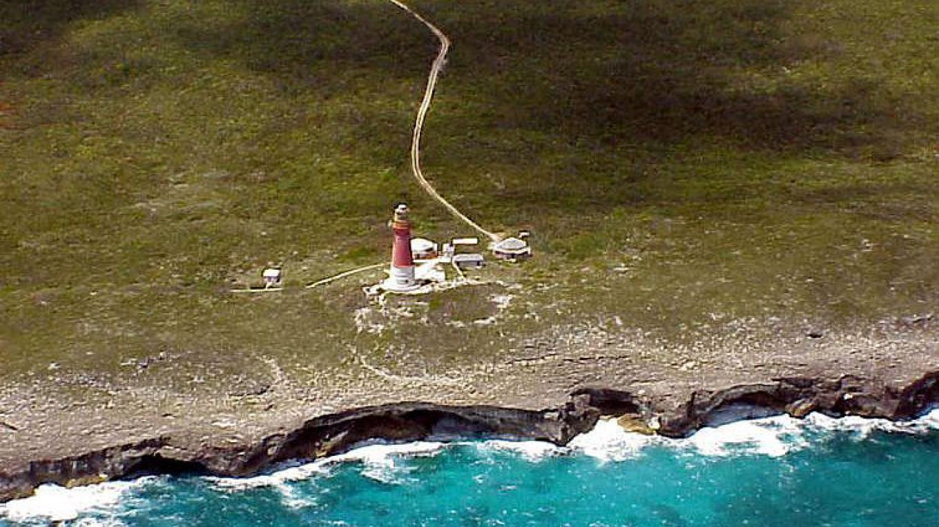 Aerial view of Hole in the Wall Lighthouse, South Abaco – Destination Abaco