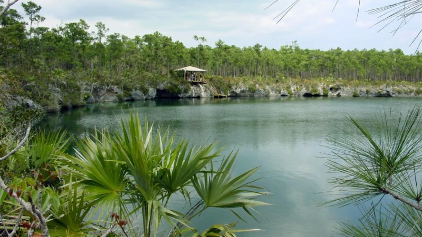 Photo of Blue Hole. – Bahamas National Trust