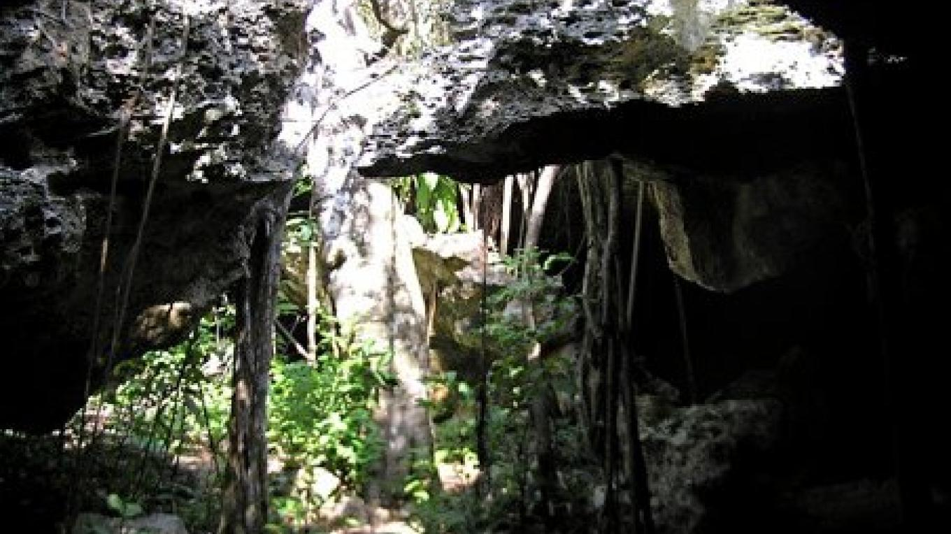 Inside the cave. – Bahamas Ministry of Tourism