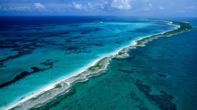Sky shot of South Marine Park. – Bahamas National Trust