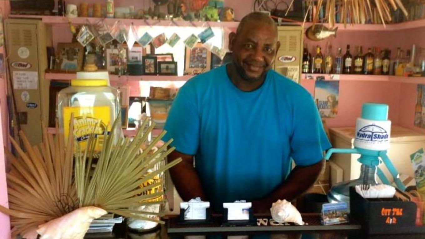 Chester at the bar. – Mr. Chester Darville, Flo's Conch Bar