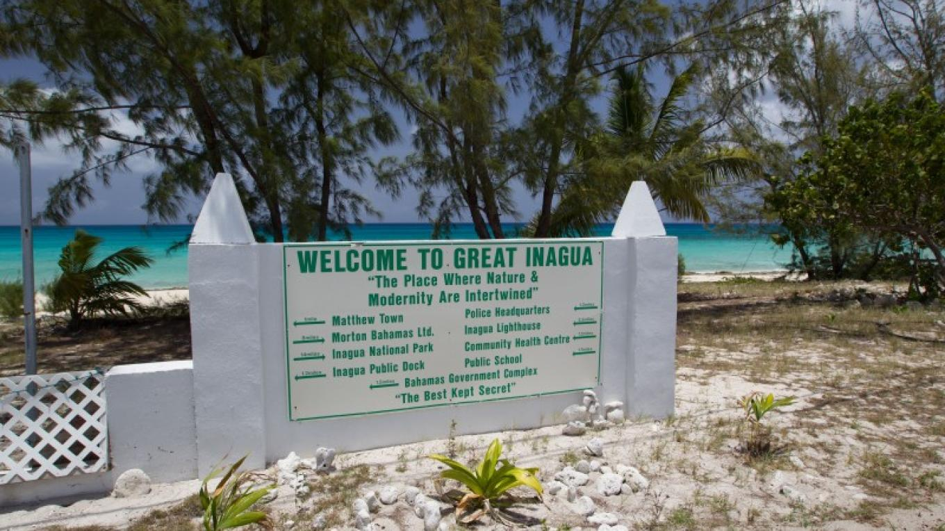Welcome Sign in Matthew Town, Inagua – Bahamas Ministry of Tourism