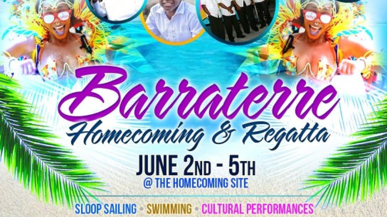 Flyer for Barraterre Homecoming Festival & Regatta – Barraterre Development Association