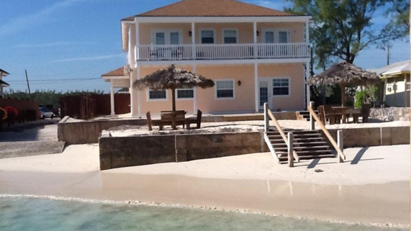 View of villa from the beach at Dream Villas, Davis Creek, Andros, The Bahamas – Dream Villas Bahamas