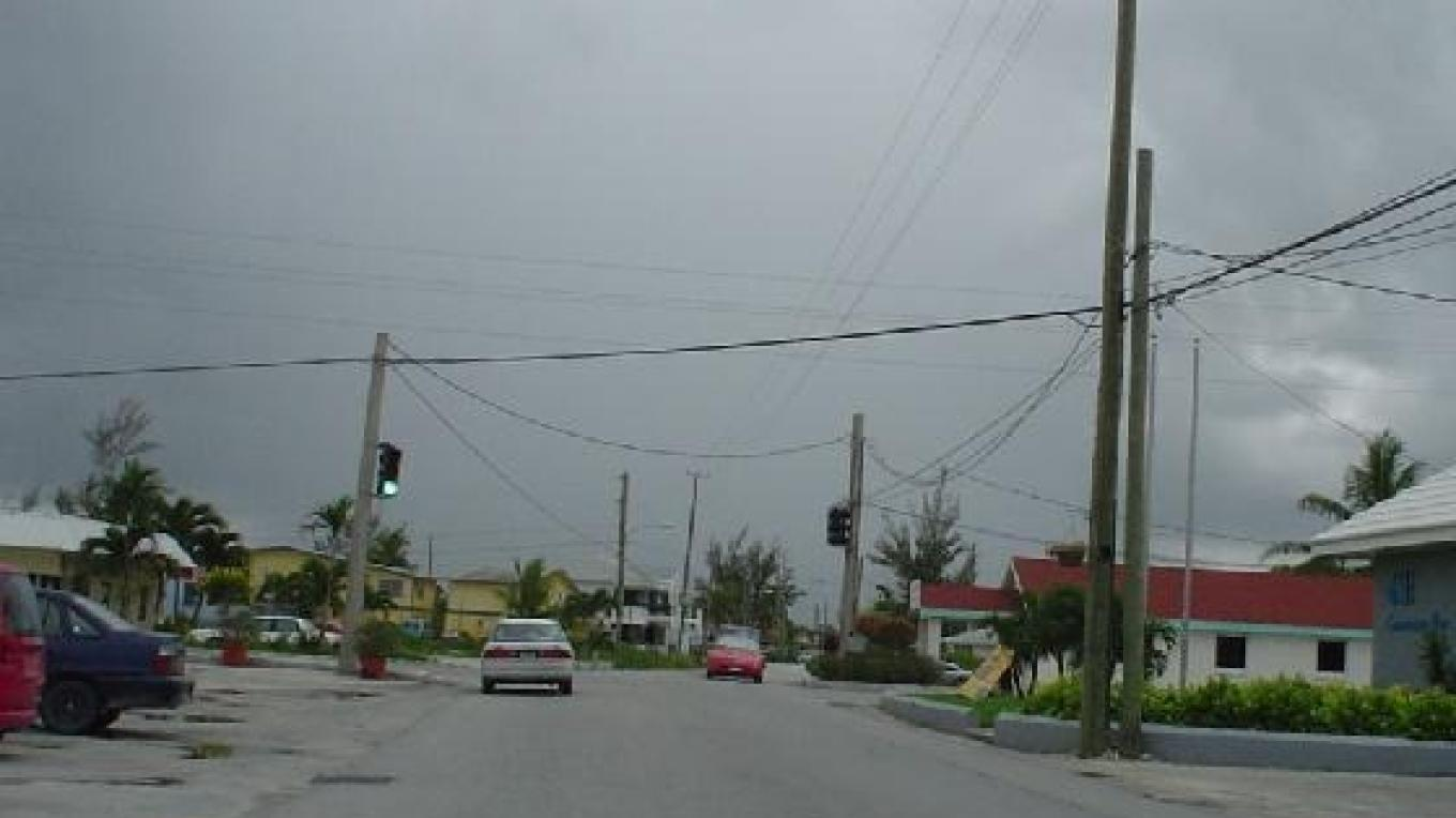 The only traffic light in Marsh Harbour. – Photo by Destination Abaco
