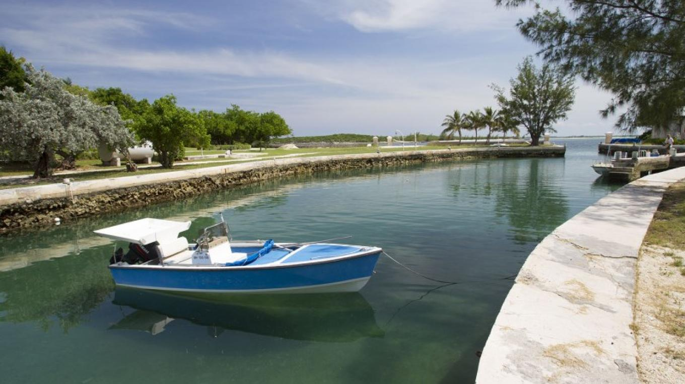 Boat in the Channel at Little Whale Cay – Bahamas Ministry of Tourism