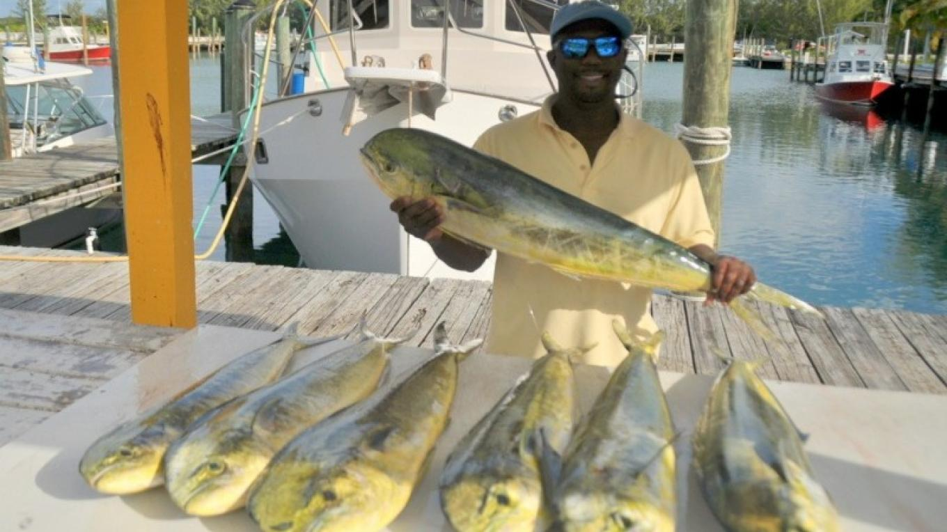 Captain Daryl Miller in with a big catch – Miller's Dive Shop