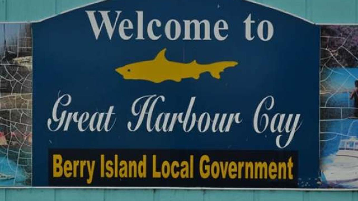 Entrance Sign to Great Harbour Cay – Berry Islands Tourism Representative