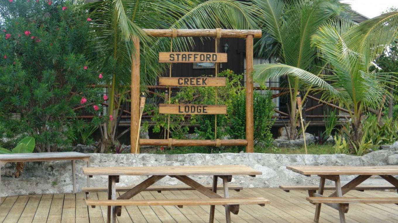 Photo of Lodge sign. – Stafford Creek Lodge