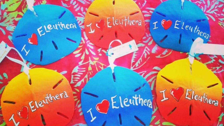 """ I Love Eleuthera "" sand dollar ornament – the blue seahorse"