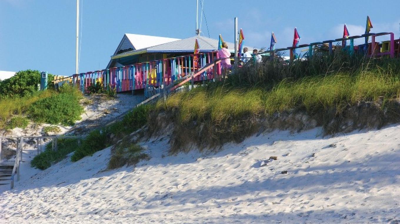 An exterior shot of Nipper's Beach Bar & Grill. – Rhonda