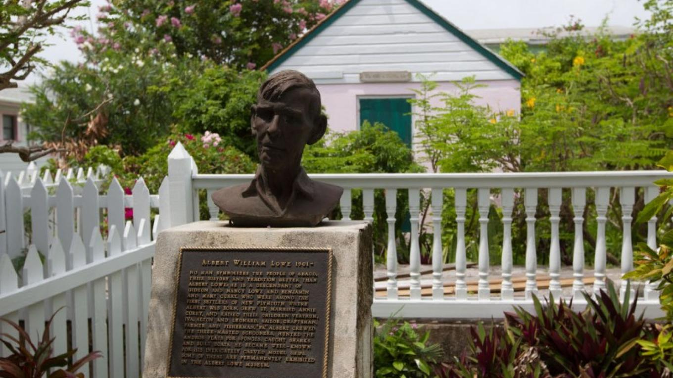 Plaque in the garden at the Albert Lowe Museum – Bahamas Ministry of Tourism
