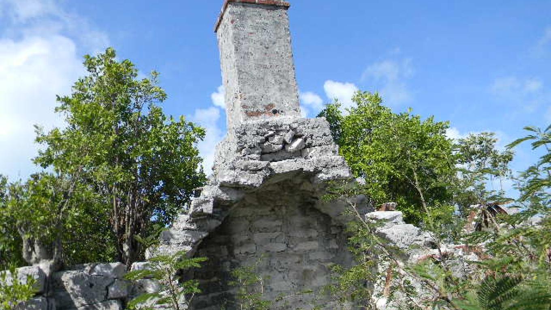 An old chimney at the plantation ruins. – Mrs.Tanya Cartwright