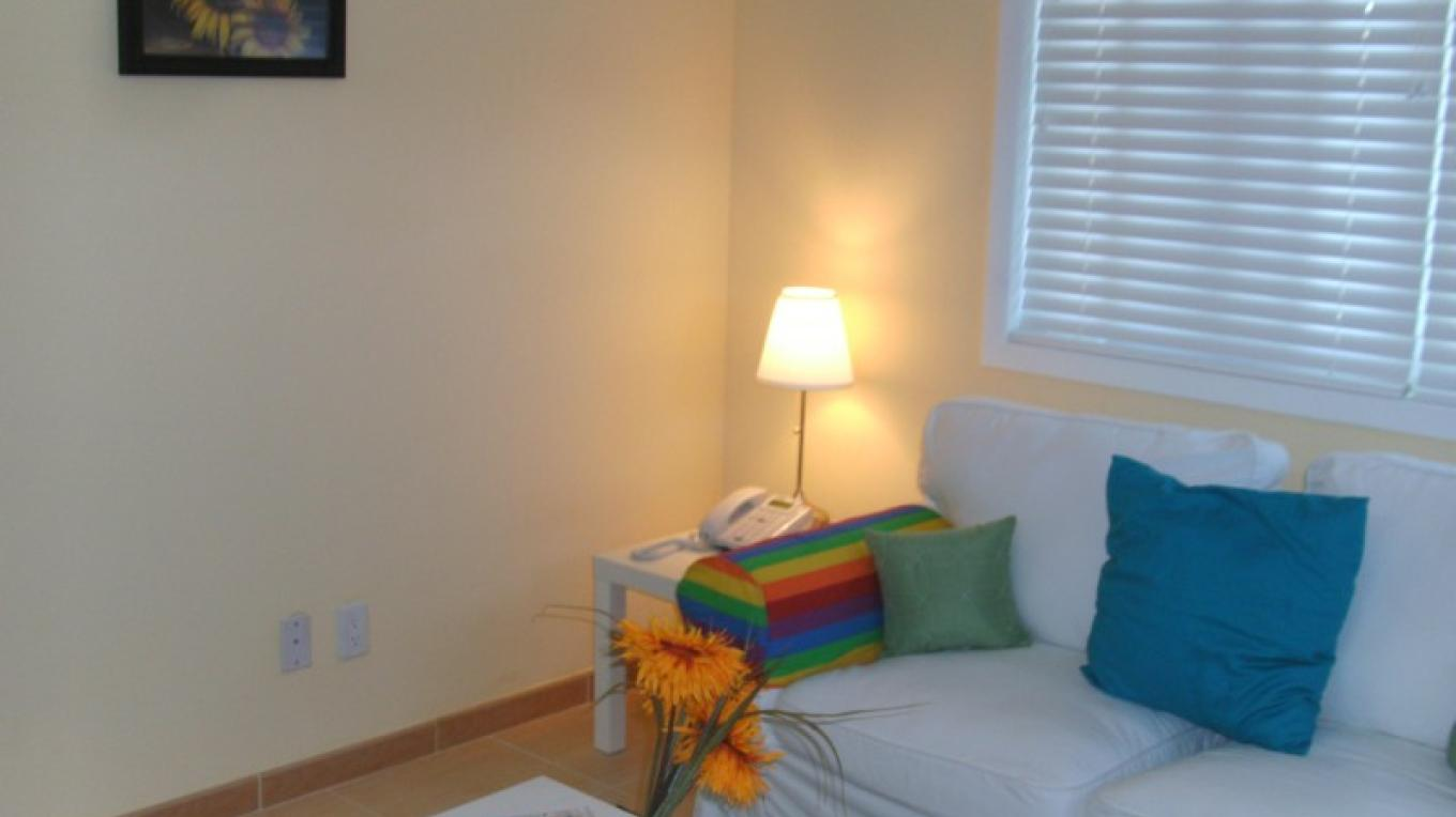 Living Room - Sunflower Suite (1 bedroom/1 bath) – Arlene Clarke
