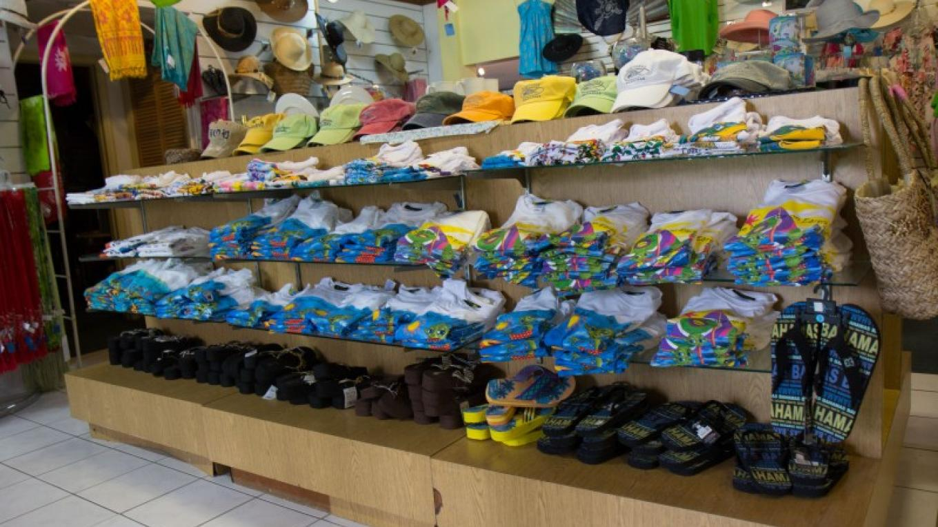 A variety of t-shirts and slippers – Bahamas Ministry of Tourism