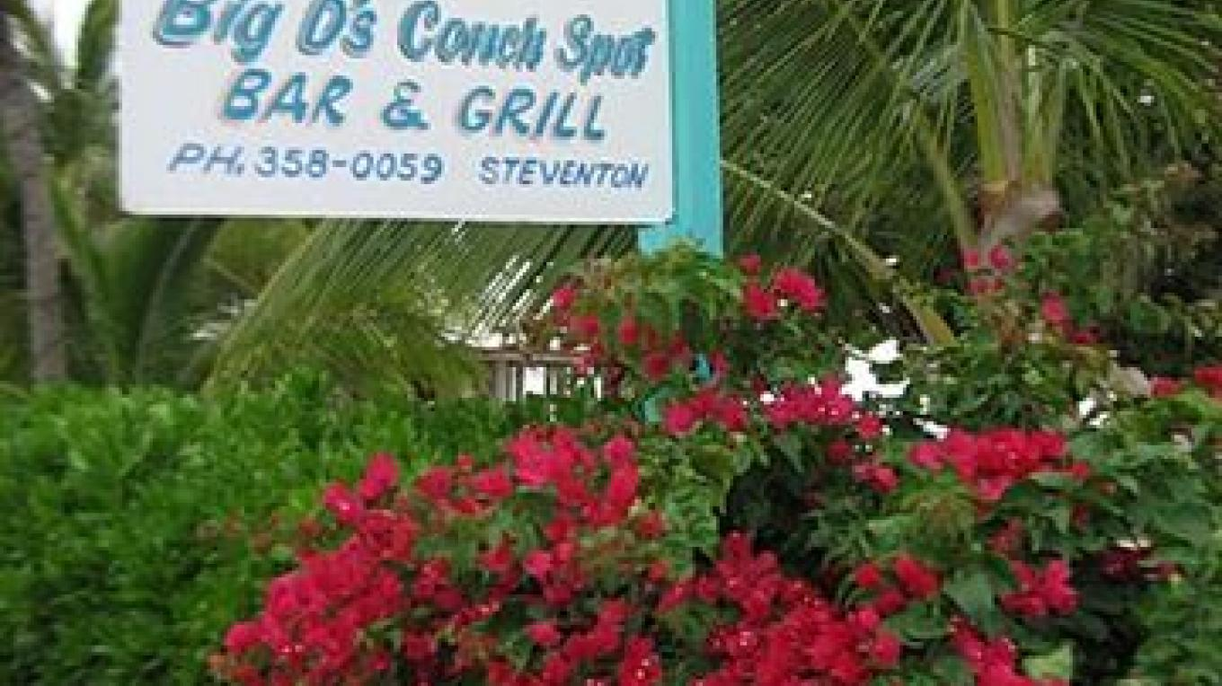 Front entrance of Big D's Conch Spot – Bahamas Ministry of Tourism