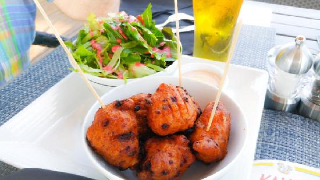 Conch fritters with a salad – tripadvisor