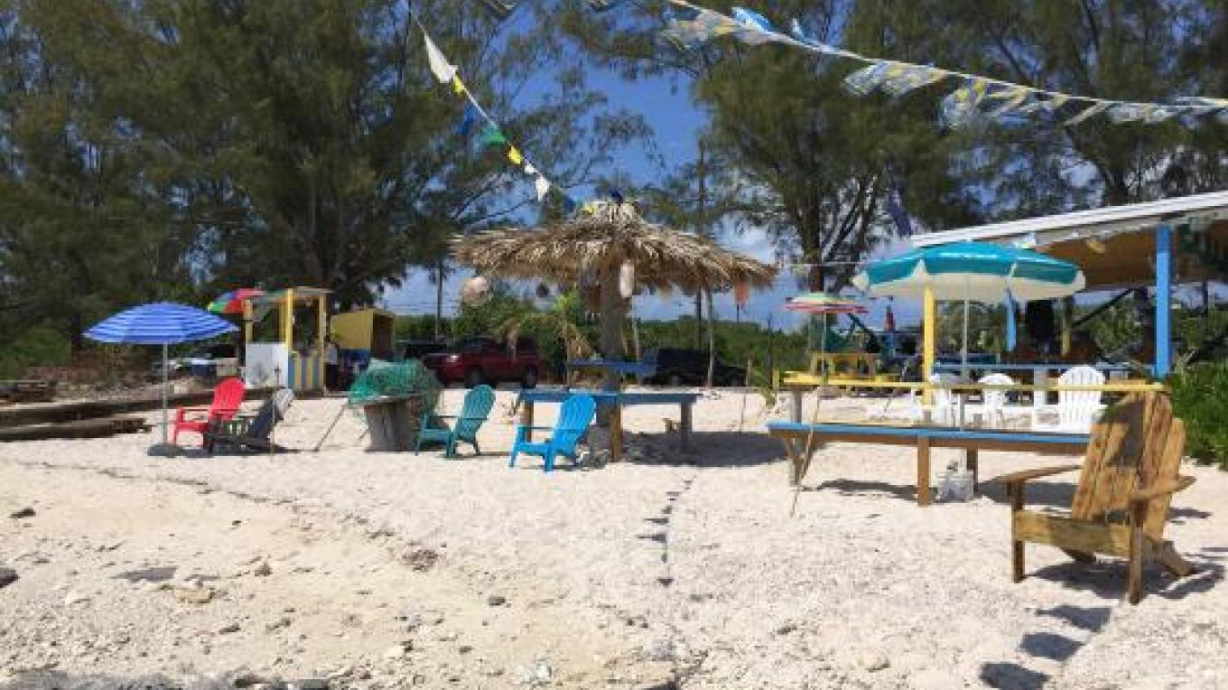 Lounge chairs on the beach at LeoRose Beach Bar & Grill – tripadvisor