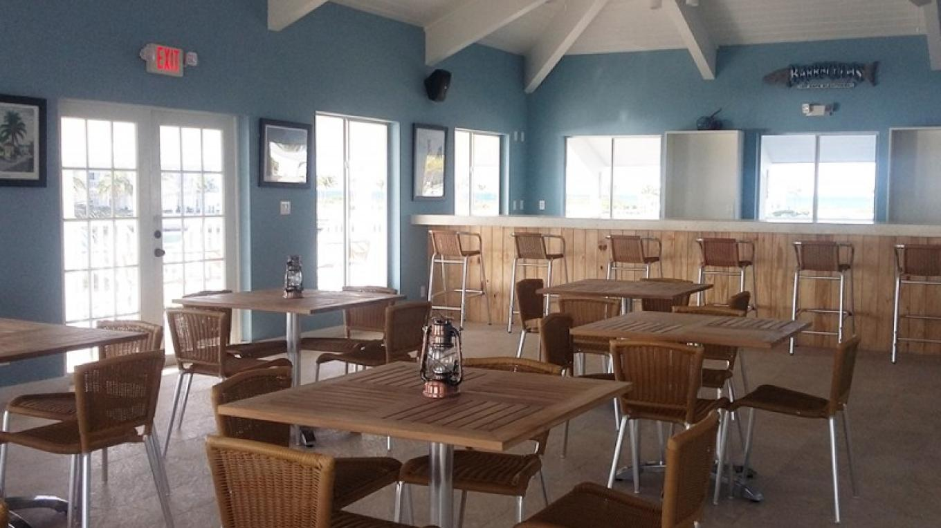 The dining area at Harbour Pointe – Cape eleuthera