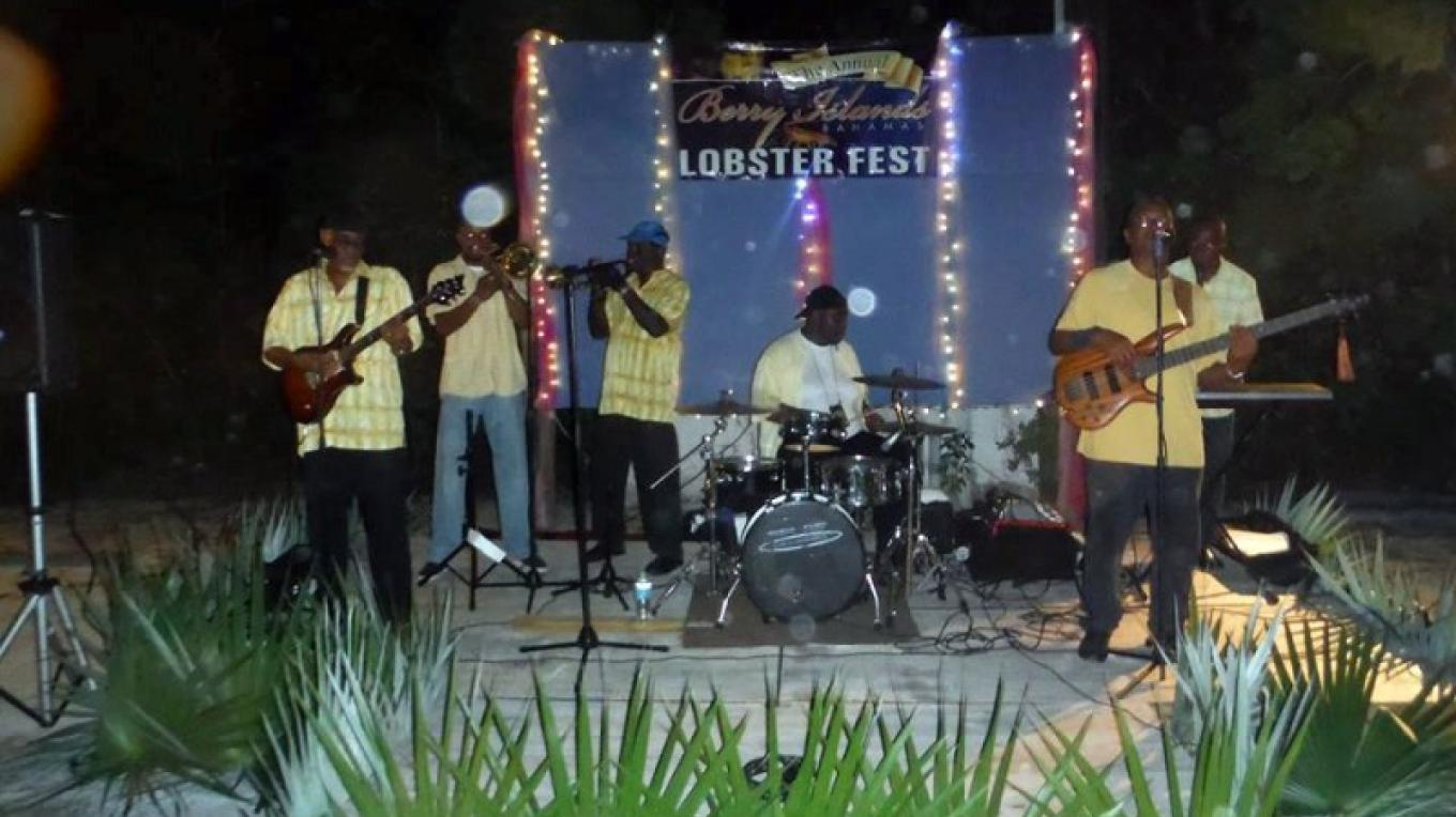 A band performing at the Lobster Fest. – Berry Islands Tourism Representative