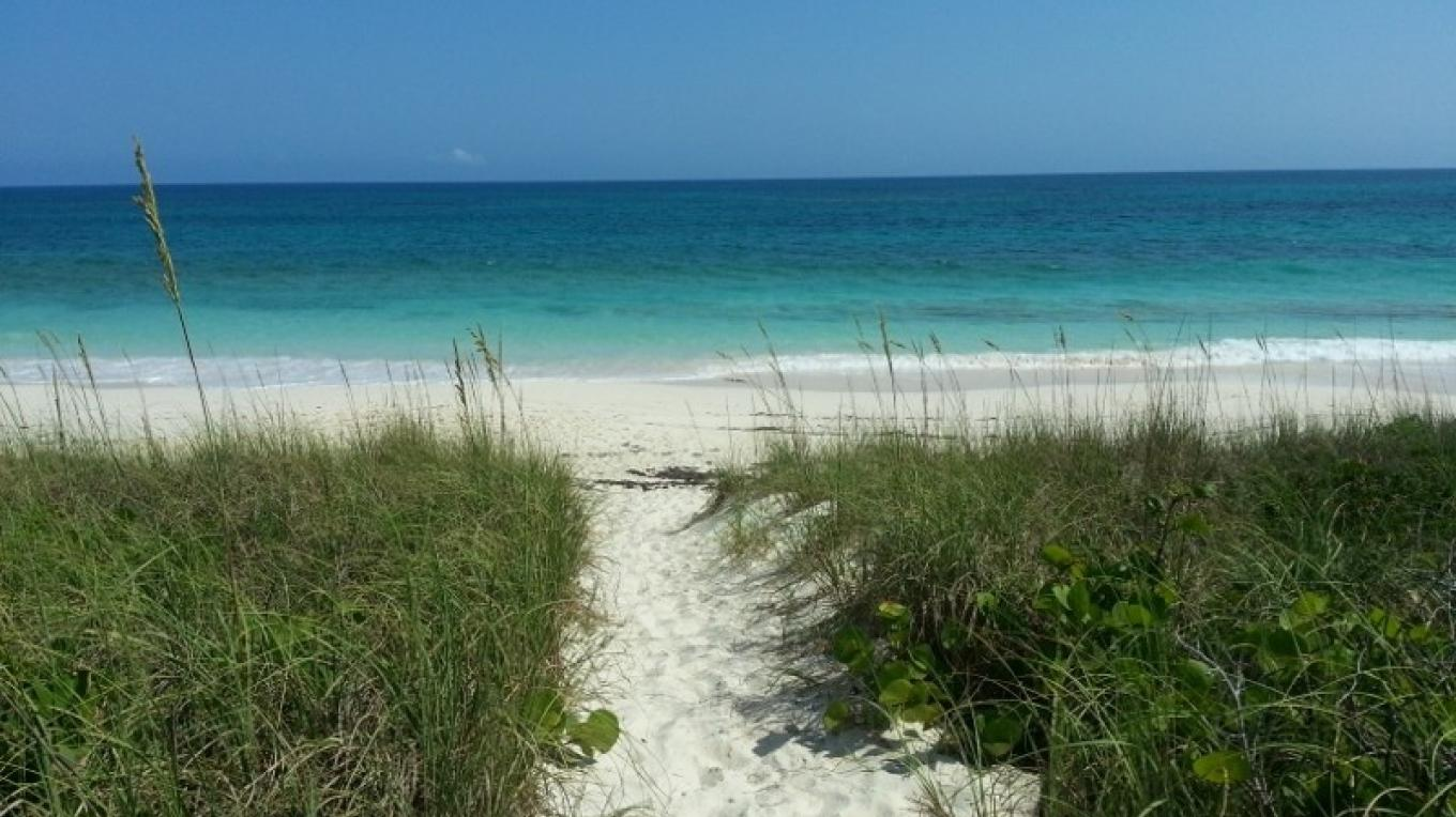 The pathway to the beach at Preacher's Cave showing the ocean. – Bahamas Ministry of Tourism
