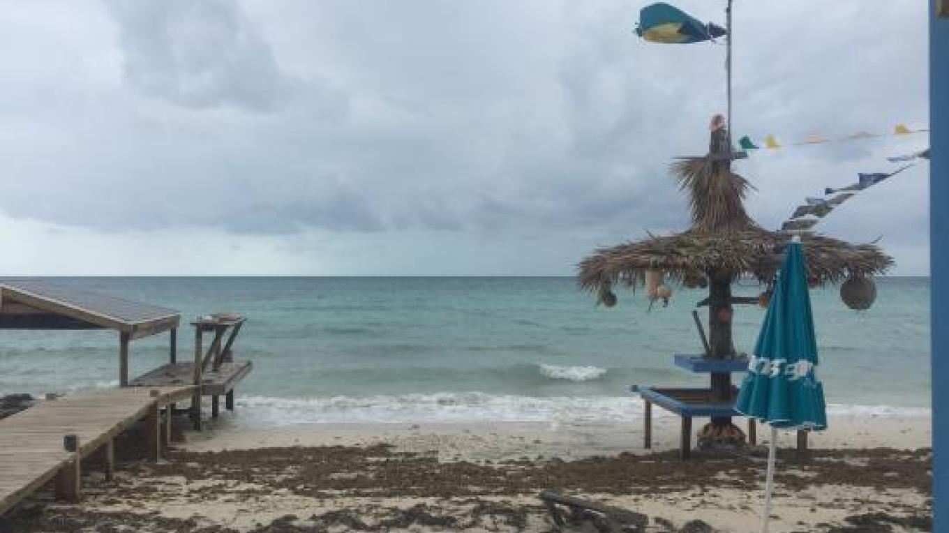 View of the dock and seating area on the beach – tripadvisor