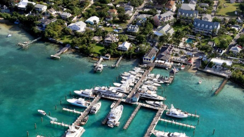Valentine's Resort and Marina aerial view – Valentine's Resort
