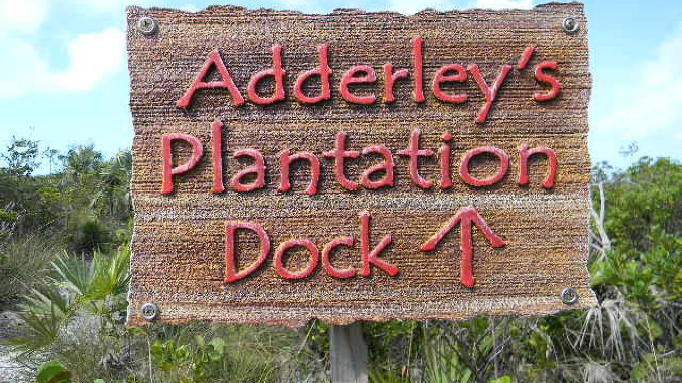 Arrow pointing towards direction of Adderley Plantation's Dock. – Mrs.Tanya Cartwright